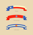 ribbon with flag of texas tennessee and colorado vector image