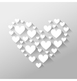 Romantic abstract Valentines Day with hearts with vector image vector image