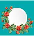 round paper with orange color roses vector image vector image
