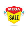 sale mega discount - concept badge vector image