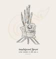 sandalwood flower for king sketch vector image vector image