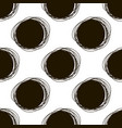 seamless doodle pattern round hand drawings vector image vector image