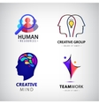 set of man logo creative group hr vector image vector image