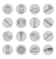 Set of sewing tools icons vector image vector image