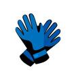 sport blue winter gloves for ski or snowboarding vector image vector image