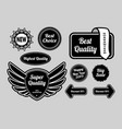 super quality sticker badges vector image