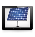 Tablet PC with solar panel vector image
