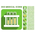 Test Tubes Icon and Medical Longshadow Icon Set vector image vector image