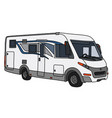 the modern white large motor home vector image vector image