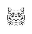 tribal cat vector image vector image