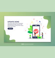 update done concept with tiny people character vector image vector image