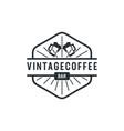 vintage coffee bar cup badge logo inspiration