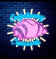 vintage confectionery emblem vector image vector image
