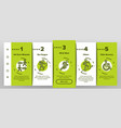 walk people motion onboarding icons set vector image vector image