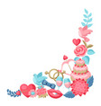 wedding decor for invitation or greeting card vector image vector image