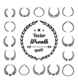 Wreath collection on white background vector image vector image