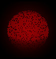 abstract circle dotted red background vector image