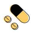 medicine pills isolated vector image
