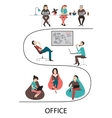 Office interior workplace concept vector image