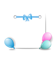 a sheet of paper with balloons and a ribbon vector image