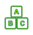 abc cube sign lemon scribble vector image