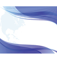 abstract wavy blue and white background vector image vector image