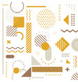 abstract yellow geometric elements pattern vector image