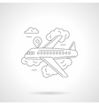Airlines journey detailed line vector image