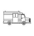 ambulance car auto paramedic emergency vehicle vector image