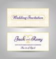 arabic style wedding invitation vector image vector image