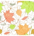 Autumn Fallen Leaves Hand Drawn Pattern vector image vector image