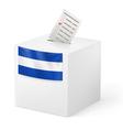 Ballot box with voting paper El Salvador vector image vector image