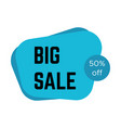 blue big sale sticker with text vector image