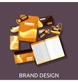 Brand Design Branding Concept Flat vector image