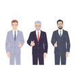 business men in suits showing thumb up vector image
