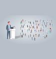 businessman president leading tribune speech vector image vector image