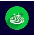 button glass orb disco icon round vector image vector image