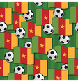 cameroon football pattern vector image vector image