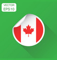 canada sticker flag icon business concept canada vector image