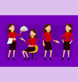 cartoon business woman character big set vector image vector image