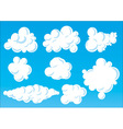 cartoon funny clouds vector image vector image