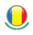 chad flag button chad flag icon of chad flag on vector image