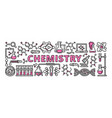 chemistry banner outline style vector image