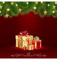 Christmas Card with a Gift vector image vector image