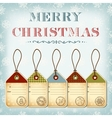 Christmas template of vintage tags with stamps vector image vector image