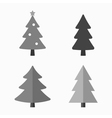 Christmas tree cartoon icons set vector image vector image