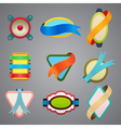 collection of different color ribbon labels vector image vector image
