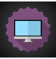 Designer Computer Desktop Flat Icon with long vector image
