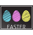 easter eggs in rgb colors vector image