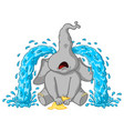 elephant sobs big tears cartoon vector image